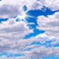 Today: Mostly cloudy, with a high near 67. West southwest wind around 10 mph, with gusts as high as 15 mph.