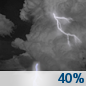 Tonight: A 40 percent chance of showers and thunderstorms, mainly after 1am. Some of the storms could be severe.  Mostly cloudy, with a low around 74. South wind 15 to 20 mph, with gusts as high as 25 mph.